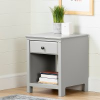 12139 Classic Contemporary Gray Nightstand - Cotton Candy