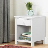 12141 Classic Contemporary White Nightstand - Cotton Candy