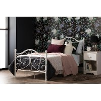 12153 Traditional White Twin Metal Bed - Summer Breeze