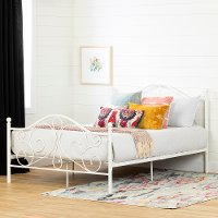 12156 Traditional White Full Metal Bed - Country Poetry