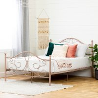 12159 Traditional Pink Full Metal Bed - Country Poetry