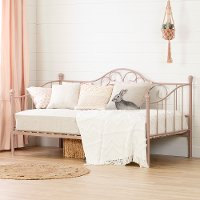 12165 Classic Pink Metal Daybed - Lily Rose