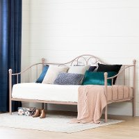 12166 Traditional Pink Metal Daybed - Savannah