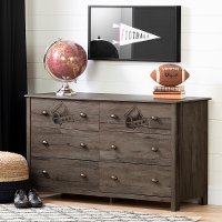 12263 Fall Oak Brown Football Dresser - Vinbardi