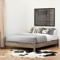 12272 Weathered Oak Full Platform Bed - Munich