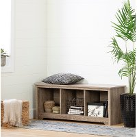 12315 Weathered Oak Cubby Storage Bench - Vito