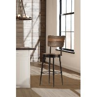 4022-826 Brown and Metal 26 Inch Swivel Counter Height Stool - Jennings