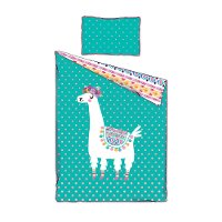 100351 Llama Turquoise Twin Comforter and Pillowcase - DreamIt