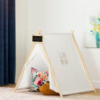 100369 Organic Cotton White and Pine Play Tent - Sweedi