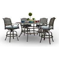 Traditional 5 Piece Square Pub Style Table - Macan