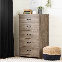 12230 Farmhouse Weathered Oak Chest of Drawers - Tassio