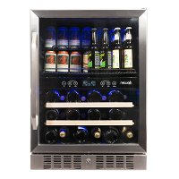 AWB-400DB NewAir Dual Zone Beverage and Wine Cooler - Stainless Steel