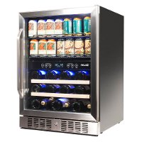 Newair Dual Zone Beverage And Wine Cooler Stainless