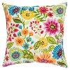 Bright Multi Color Floral Indoor-Outdoor Throw Pillow