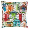 Multi Color Door Front Indoor-Outdoor Throw Pillow