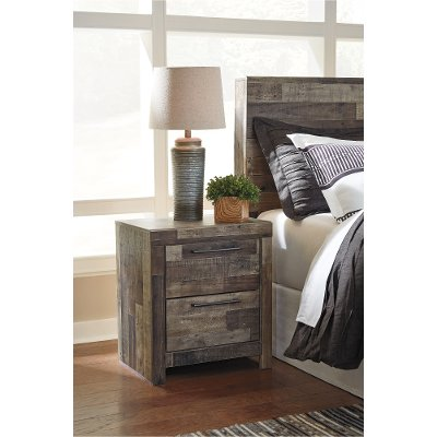 Modern Farmhouse Rustic Nightstand - Broadmore