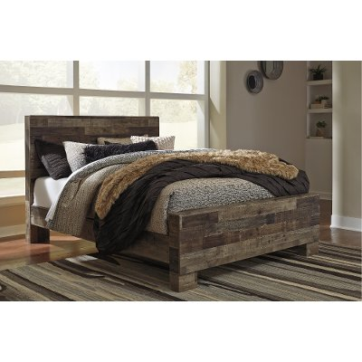 Modern Rustic Farmhouse Full Size Bed - Broadmore
