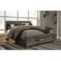 Modern Farmhouse Rustic King Size Bed Broadmore Rc Willey Furniture Store