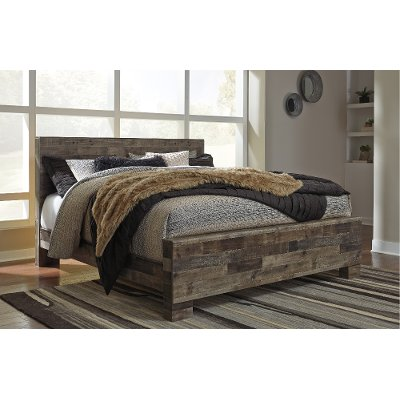 Modern Farmhouse Rustic King Size Bed - Broadmore