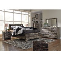 Modern Rustic 4 Piece Full Bedroom Set - Broadmore