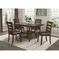Brown Cherry 5 Piece Dining Room Set - Darla