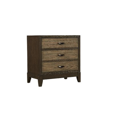 Rustic Two-Tone Brown Nightstand - Westlake