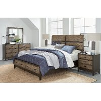 Rustic Two-Tone Brown 4 Piece Queen Bedroom Set - Westlake