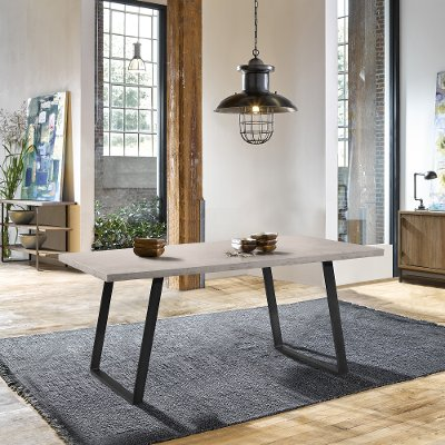 Industrial Gray Pewter Dining Room Table - Coronado
