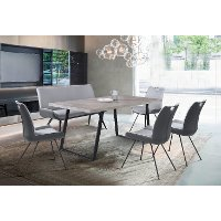 Modern Industrial Gray 5 Piece Dining Set - Coronado