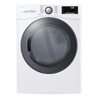 DLEX3900W LG Smart WiFi Enabled Electric Dryer with TurboSteam - 7.4 cu. ft.  White