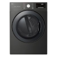 DLEX3900B LG Smart WiFi Enabled Electric Dryer with TurboSteam - 7.4 cu. ft. Black Steel