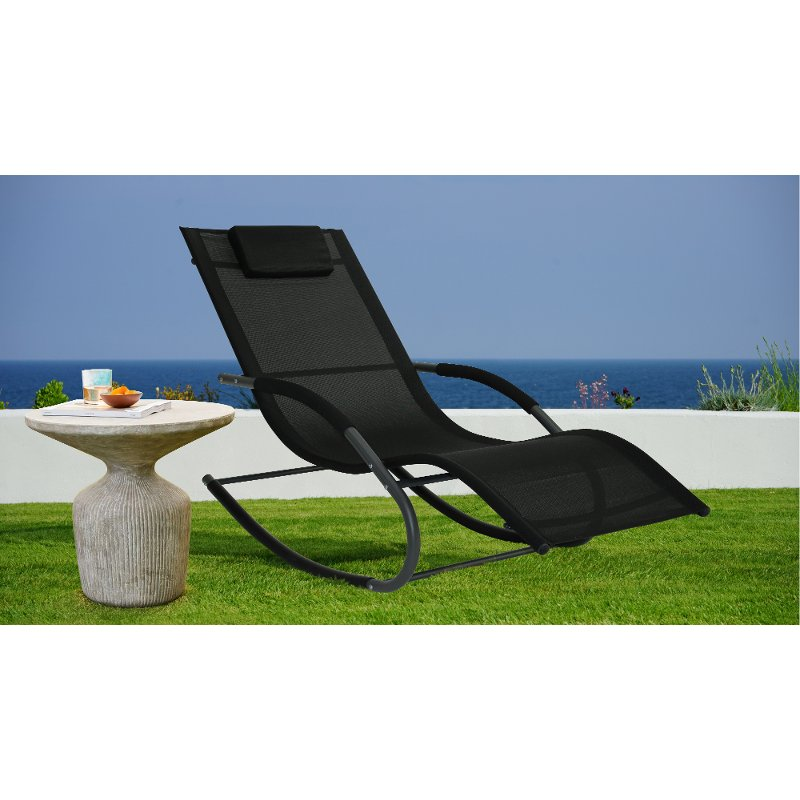 Lounger Black Patio Lounge Chair