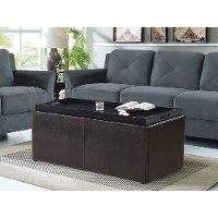 Brilliant Java Brown Faux Leather 3 Piece Storage Ottoman Set Irvine Gmtry Best Dining Table And Chair Ideas Images Gmtryco