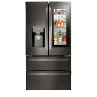 LMXS28596D LG 27.6 cu. ft. French Door Smart Refrigerator - 36 Inch Black Stainless Steel