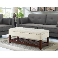 Beige Relax A Lounger Ottoman and Storage Bench - Reynolds