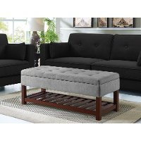 Light Gray Relax A Lounger Ottoman and Storage Bench - Reynolds