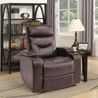 Java Brown Relax A Lounger Faux Leather Recliner - Spencer