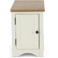 Rustic Cotton Side Table