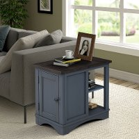 Rustic Denim Blue Side Table - Americana