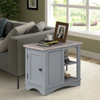 Rustic Dove Gray Side Table