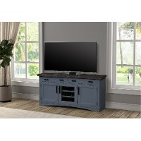 63 Inch Denim Blue TV Stand - Americana