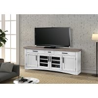 Rustic Cotton 76 inch TV Stand - Americana