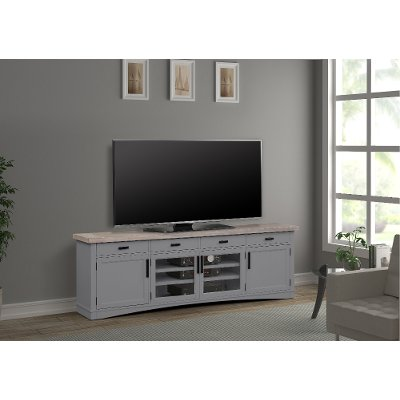 Rustic Dove Gray 92 inch TV Stand