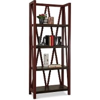 Cranberry Red Bookcase