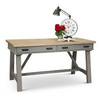 Dove Gray Country Writing Desk - Americana