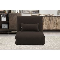 Chocolate Brown Folding Theater Lounger Chair and Fold Out Bed - Sutton