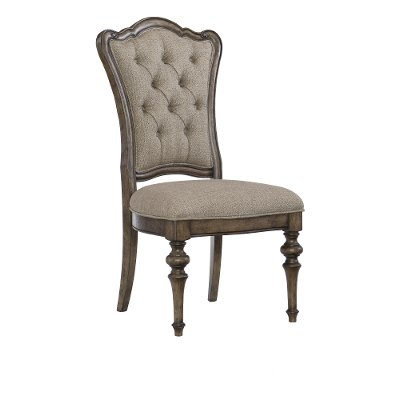 Traditional Brown Upholstered Dining Room Chair - Heath Park