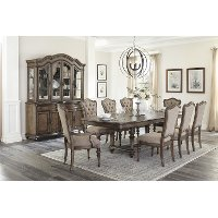 Traditional Brown 7 Piece Dining Set - Heath Park
