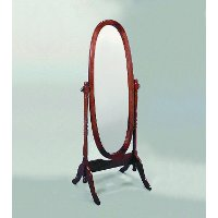 Cherry Traditional Oval Cheval Mirror
