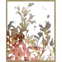 Multi Color Floral Framed Canvas Wall Art